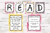 Read sign, Reading Corner Rules and Dr. Seuss Quote, Tropi