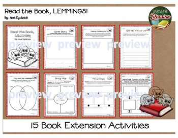 Read the Book, Lemmings! by Dyckman 15 Book Extension Activities NO PREP