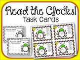 Read the Clock Task Cards.  Math Center. Clocks. Teling Time