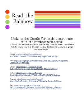 Read the Rainbow TASK CARDS