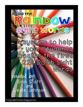 Read the Rainbow Sight Words {based on the first 220 words}