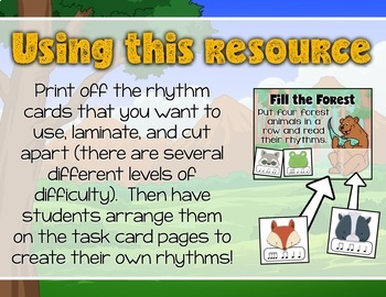 Read the Rhythm to Help the Animals - Rhythm Centers