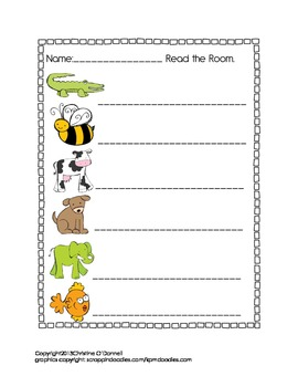 Read the Room A-Z: Common Core, differentiated