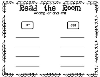 Read the Room - Adding -er and -est