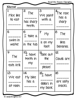 Read and Write the Room: Blends and Digraphs