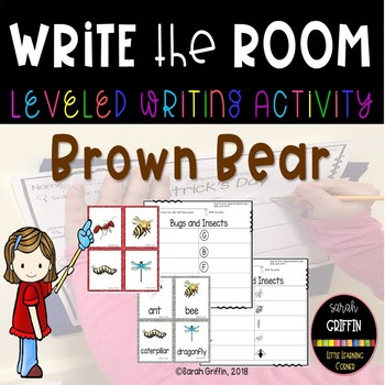 Read and Write the Room - Brown Bear, Brown Bear - SCOOT center