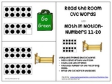 Read the Room CVC Words AND Math in Motion 11-20 Tens Frames