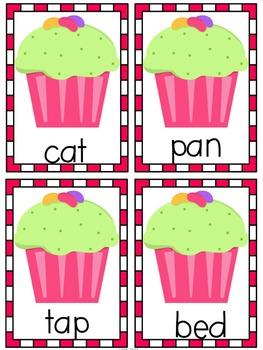 Read the Room CVC Words  - Cupcake Themed