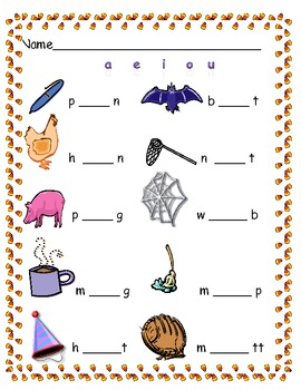 Read the Room Candy Corn Vowel Hunt