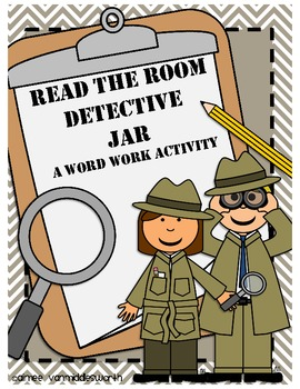 Read the Room Detective Jar for Word Work Workstation/Center