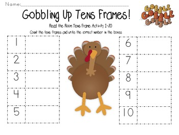 Read the Room-Gobbling Up Tens Frames 1-20