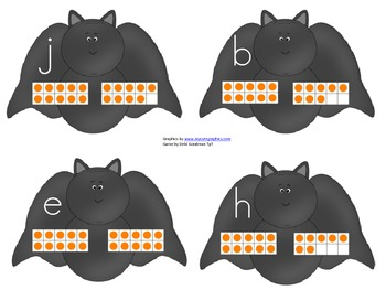 Read the Room-Going Batty- Numbers 1-20 and tens frames Re