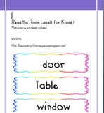 Read the Room Labels for K-1 With  Manipulative Bin Organizers Included