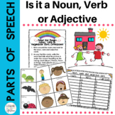 Parts of Speech: Noun,Verb & Adjective Sort Fun for 1st Grade