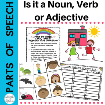 Parts of Speech Read&Write the Room Noun,Verb & Adjective