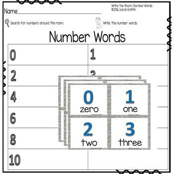Write the Room - Numbers to Ten - Math Center