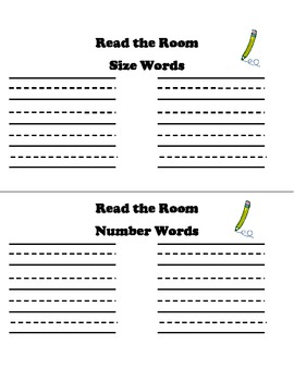 Read the Room On A Ring! Centers and More!