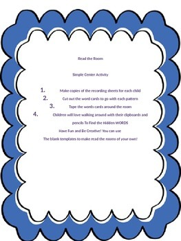 Read the Room- Practice Spelling and Phonics Patterns