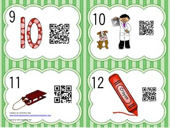Read the Room Short E Words with QR Codes