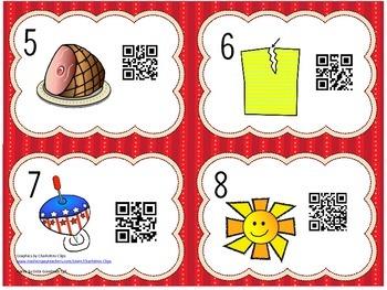 Read the Room Short Vowel Words with QR Codes-a,e,i,o,u
