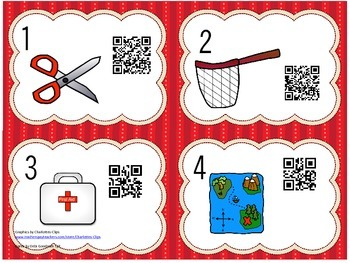 Read the Room Short Vowel Words with QR Codes-a,e,i,o,u