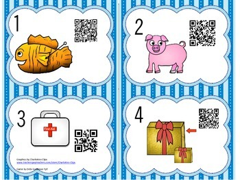 Read the Room Short i Words with QR Codes