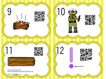 Read the Room Short o Words with QR Codes