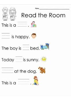 Read the Room Sight Word List 2