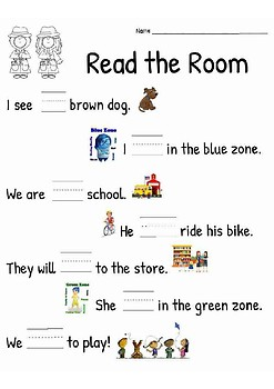 Read the Room Sight Words List 1