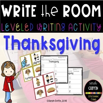 Read and Write the Room - Thanksgiving - Scoot Activity