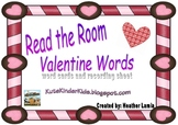 Read the Room- Valentine words & recording sheet