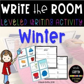 Read and Write the Room - Winter - Scoot Activity