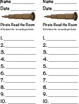 Read the Room -ar Pirate Words