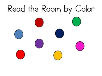Read the Room by Colors Alphabet Activity