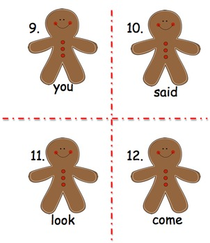 Read the Room with The Gingerbread Boy: A sight word activity