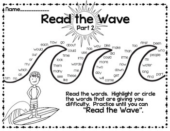 Read the Wave {No Prep High-Frequency Word Practice SET #2  }