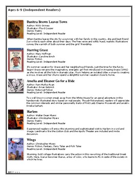 Read to Love Reading - Recommendations List