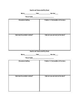 Read to Self Accountability Sheet