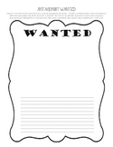 Read to Self Activity - Antagonist Wanted