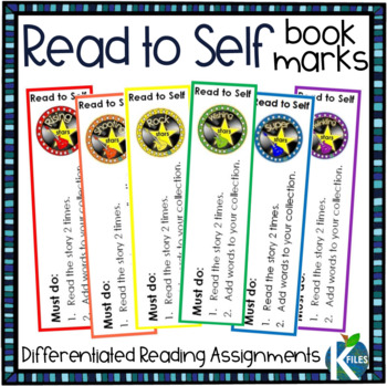 Read to Self Bookmarks