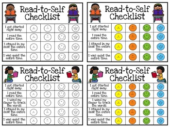 Read-to-Self Checklists, Sticker Charts, and Weekly Logs!