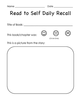 Read to Self Daily Recall