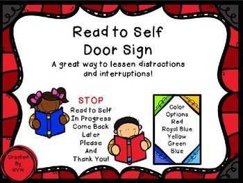 Read to Self Door Sign