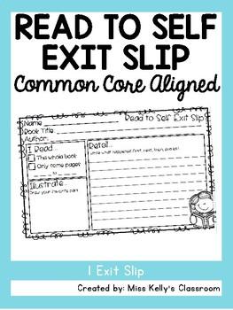 Read to Self Exit Slip (Common Core Aligned)
