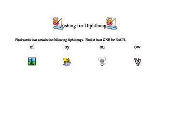 Read to Self : Fishing for Digraphs/Diphthongs