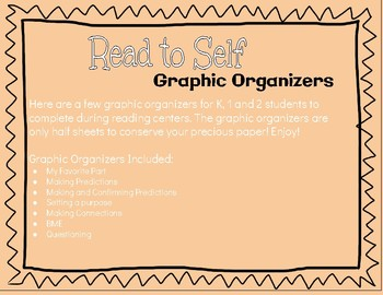 Read to Self Graphic Organizers