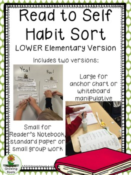Read to Self Habit Sort LOWER elementary version