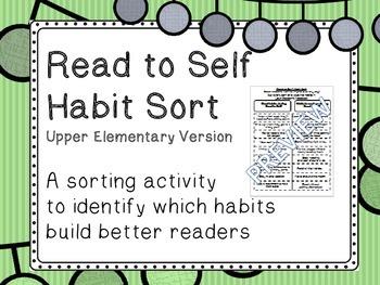 Read to Self Habit Sort UPPER elementary version