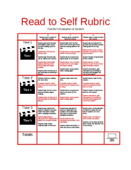 Read to Self Hollywood Rubric