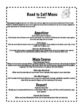 Read to Self Menu Nonfiction